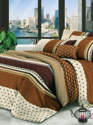 Queen Bedding Brown Set