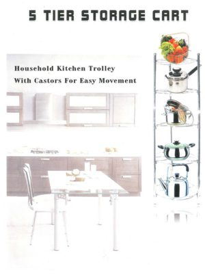 5 Tier Kitchen Storage Cart