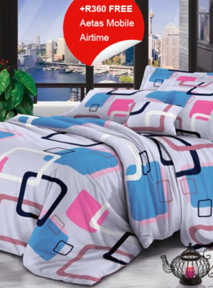Queen Bedding set – Pink&Blue