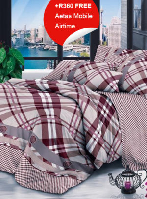 Queen Bedding Set Red And White Stripes