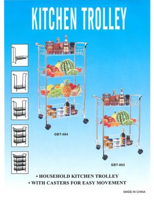 3 Shelf Kitchen Trolley
