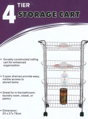 4 Tier Kitchen Storage Cart