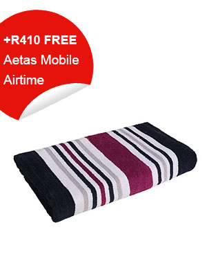 Bathroom Towel (Purple Stripes)