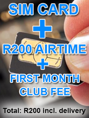 Sim Card + First Month Sexy Shopper club fee + New Number + R200 Pre Loaded Airtime